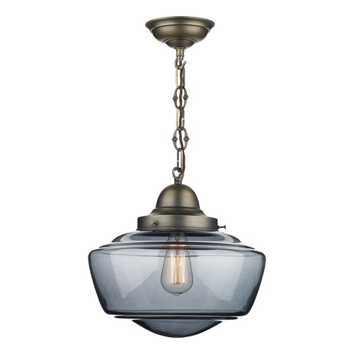 Stowe 1 Light Smoked Glass Pendant