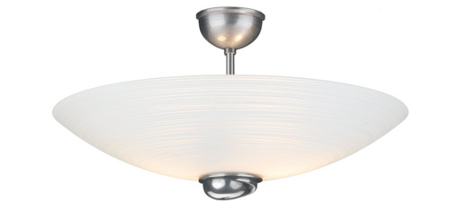 Swirl Semi Flush Pendant White Glass