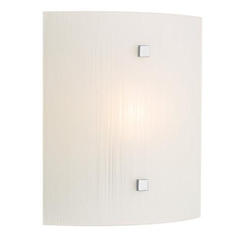 Swirl White Square Wall Light