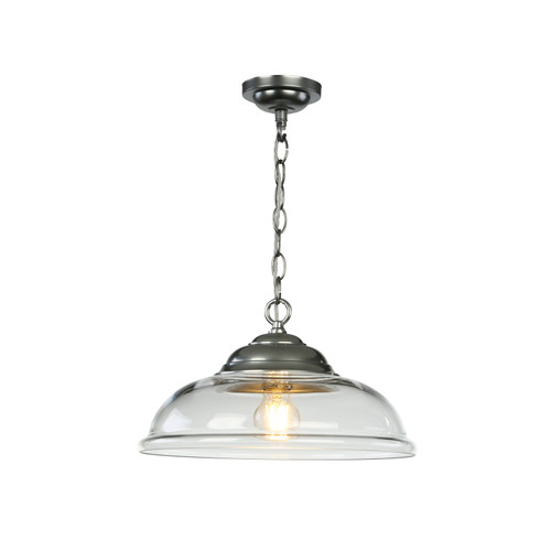 Webster 1 Light Pendant White Glass With Chrome