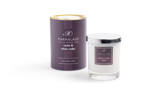 Cassis & White Cedar Candle Glass