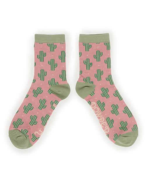 Cacti Ladies Ankle Socks