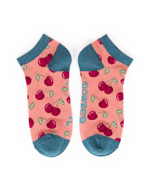 Cherries Ladies Trainer Socks