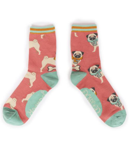 Cosy Pug Ankle Socks