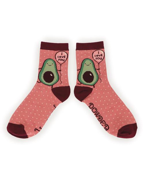 I love You Avocado Ladies Ankle Socks