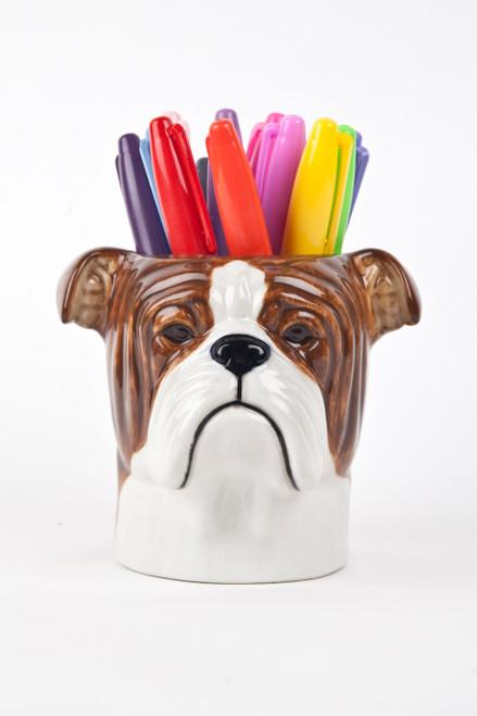 English Bulldog Pencil Pot