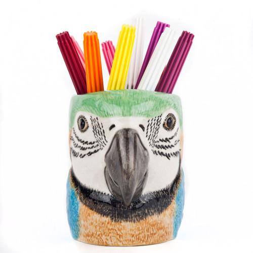 Macaw Parrot Pencil Pot