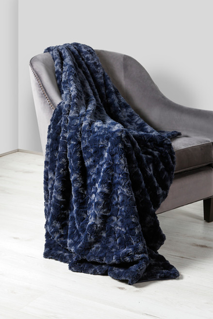 Hepburn Navy Throw 130 x 180cm