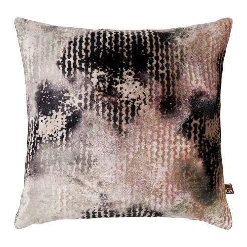 Nisha Cushion Mink Charcoal