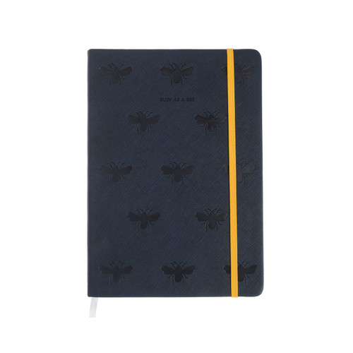 Bees Faux Leather Notebook
