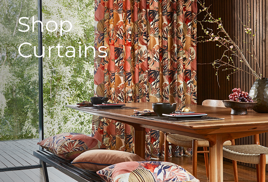 Discover our bespoke designer curtains & blinds. Shop online and enjoy free delivery over £75 to the UK and free local delivery.