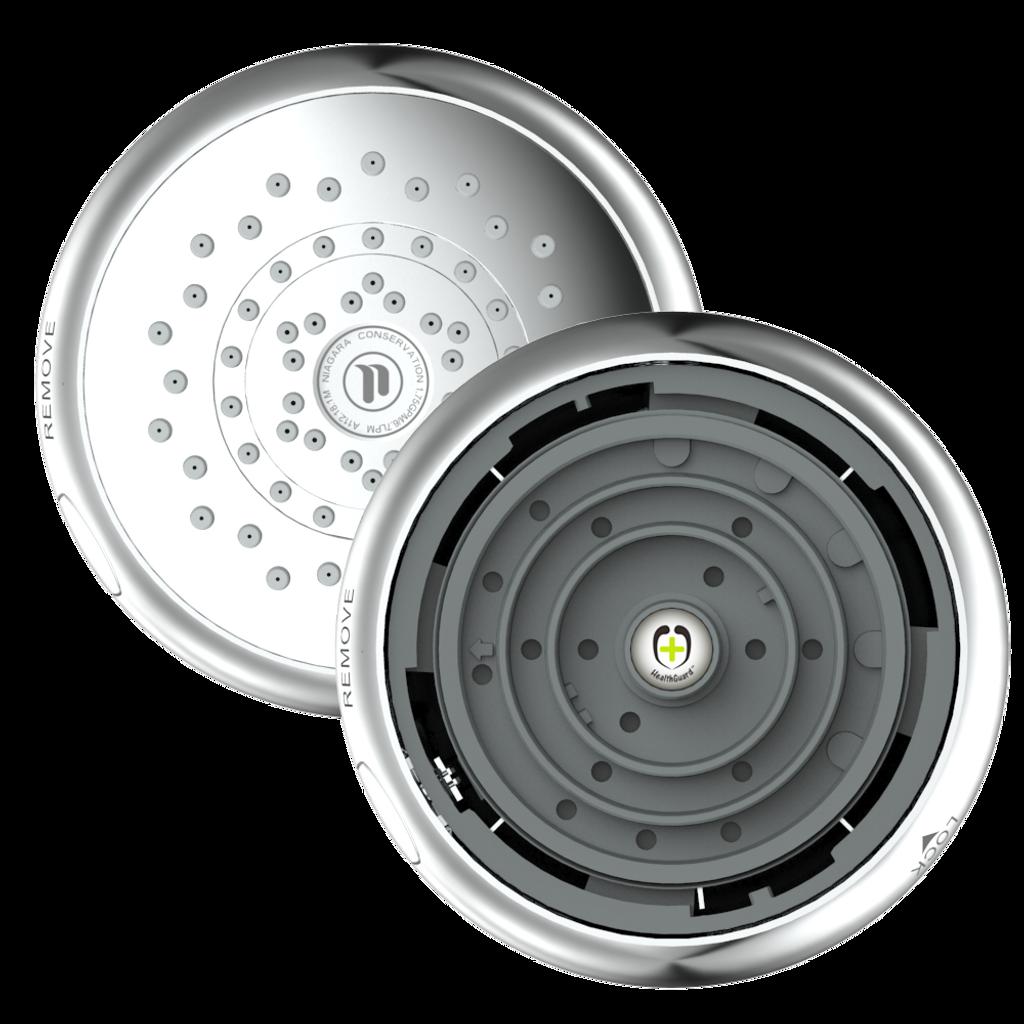 HealthGuard® 5-Function Fixed Showerhead, 1.5 GPM, Chrome