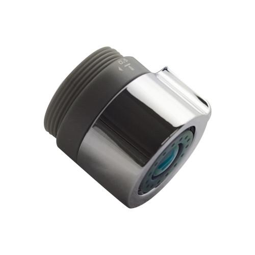 Tri-max® Adjustable Faucet Aerator, 0.5/1.0/1.5 GPM, Chrome and Black