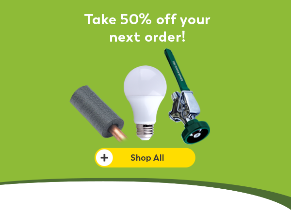 Take 50% off your next order
