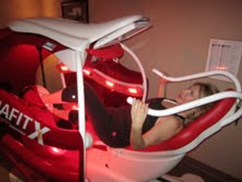 Intrafit X Recumbent Bike Red Light therapy