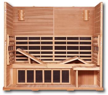 Clearlight 5  Person Sauna Premier Basswood