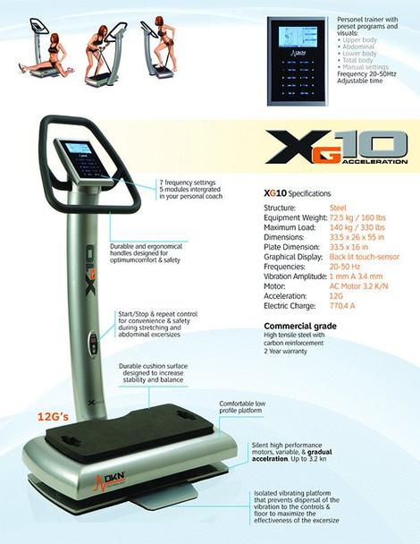 xG10 Whole Body Vibration Machine 12 G's