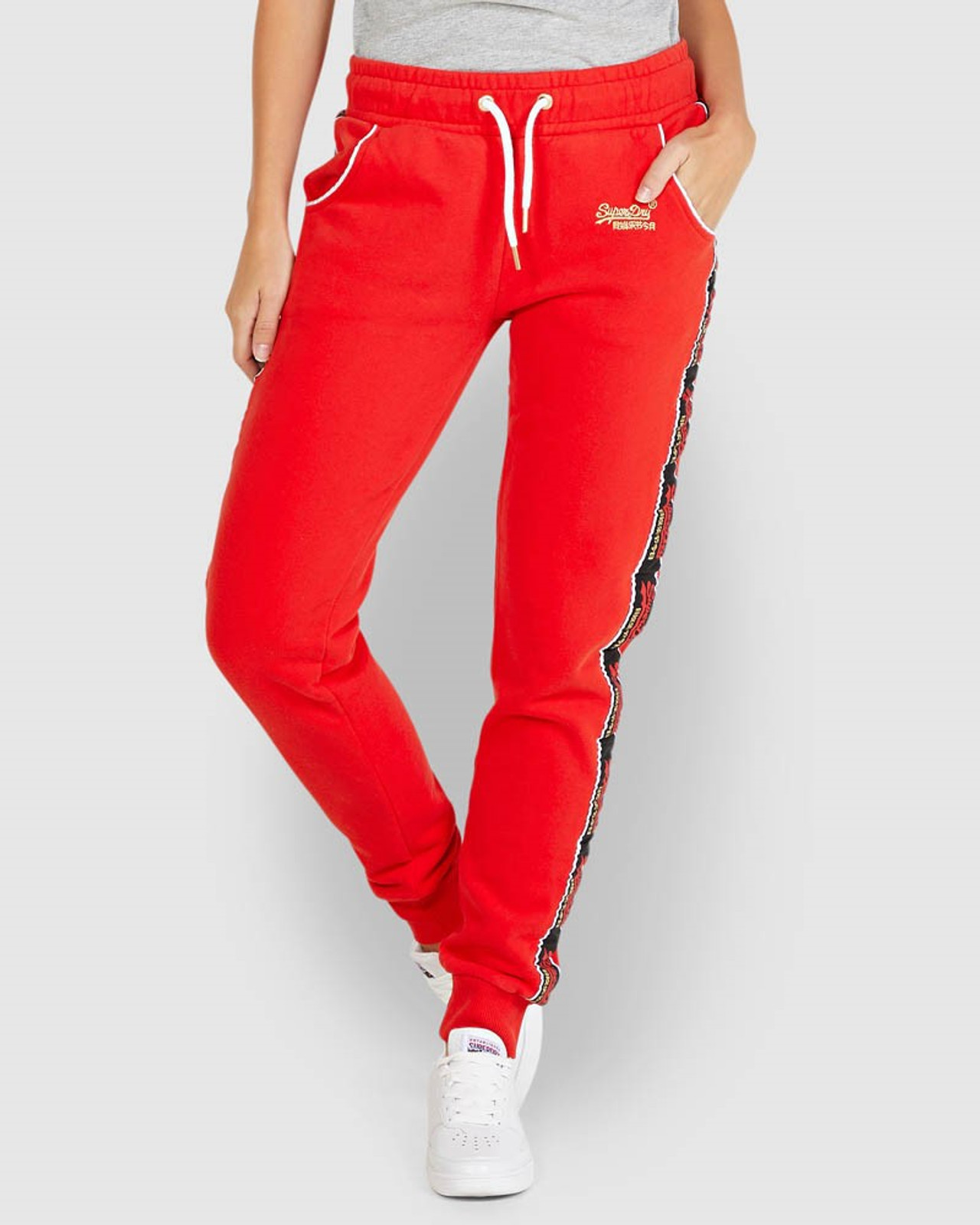 Superdry Womens CNY JOGGER Red Cuffed Joggers 0