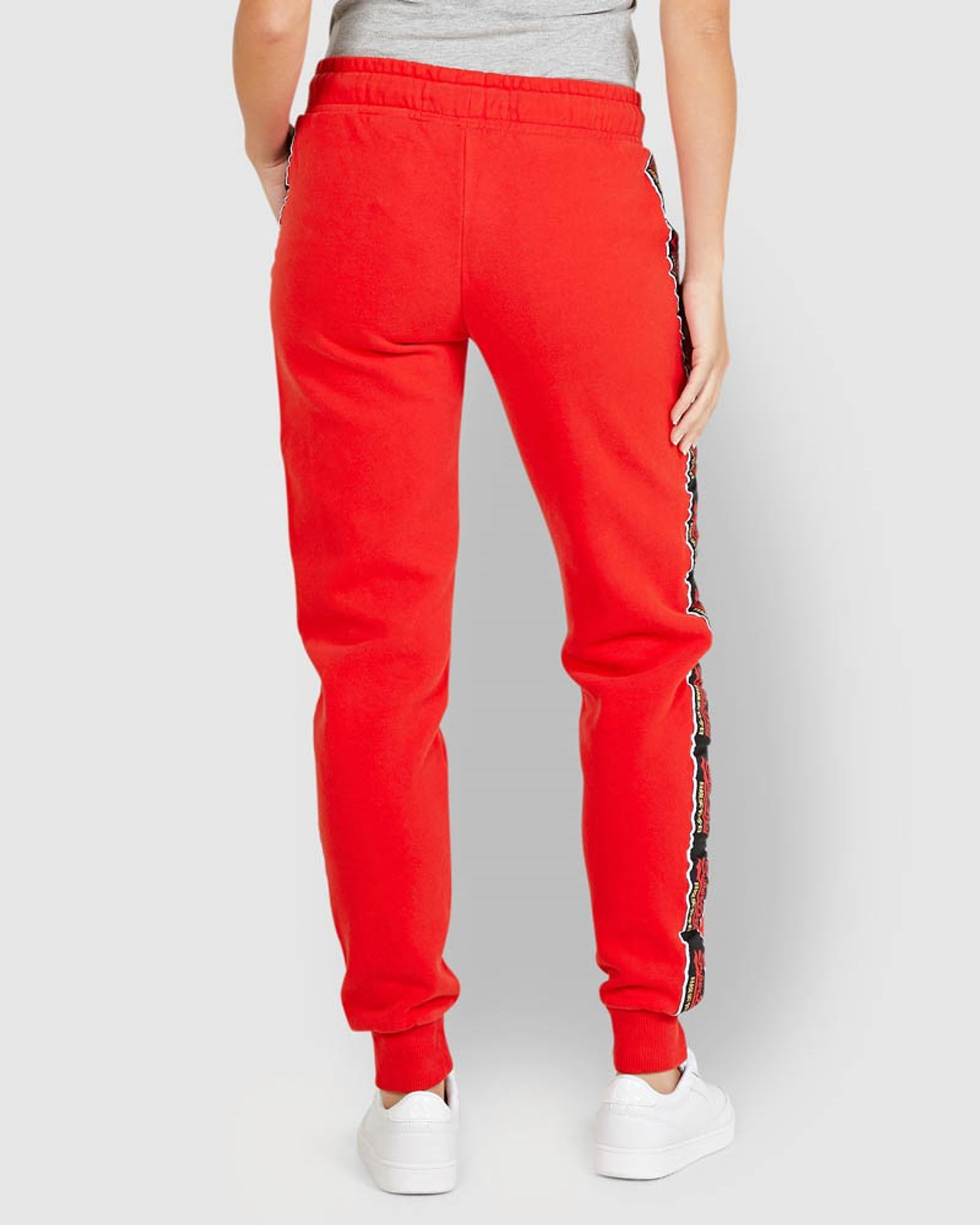 Superdry Womens CNY JOGGER Red Cuffed Joggers 3