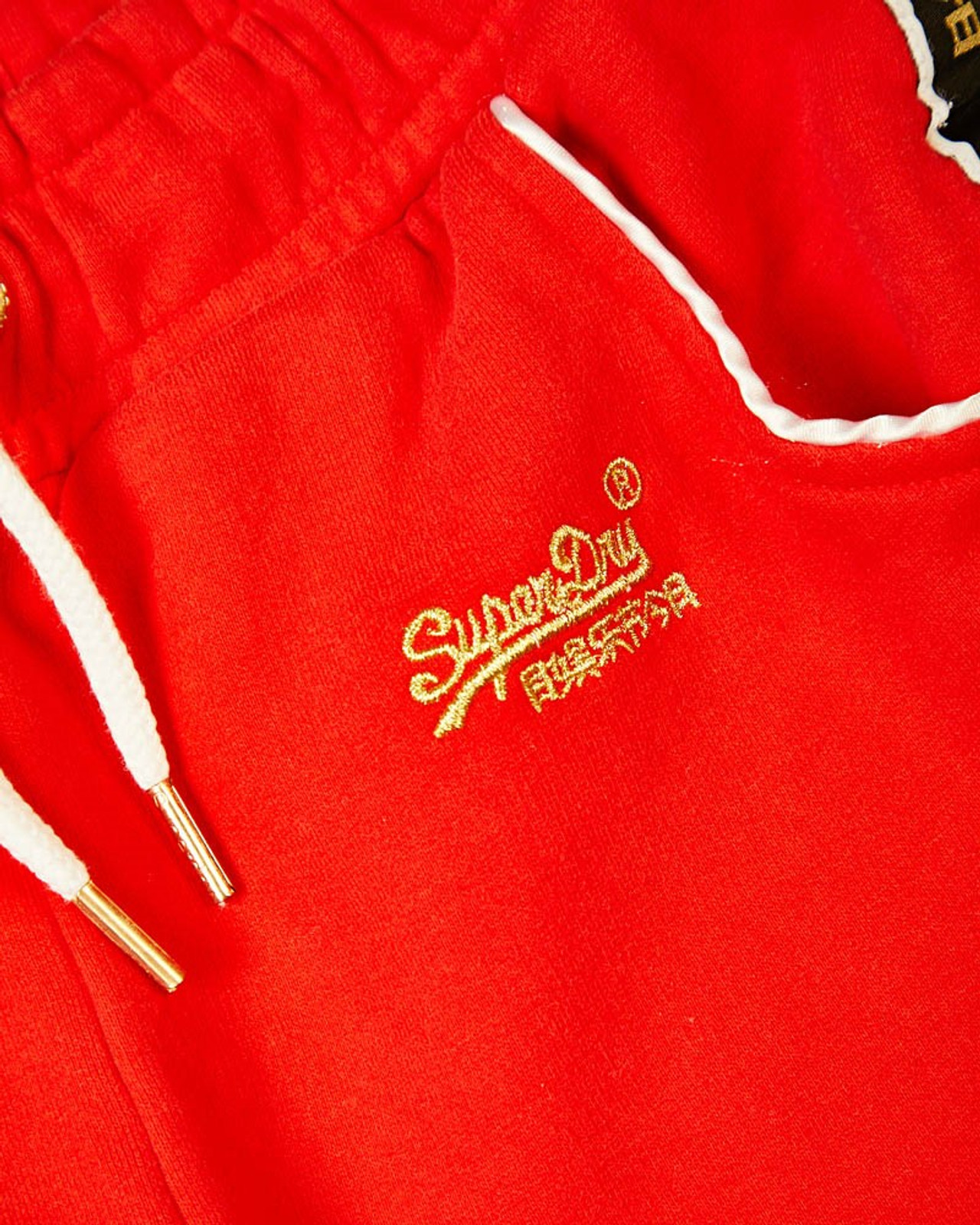 Superdry Womens CNY JOGGER Red Cuffed Joggers 4