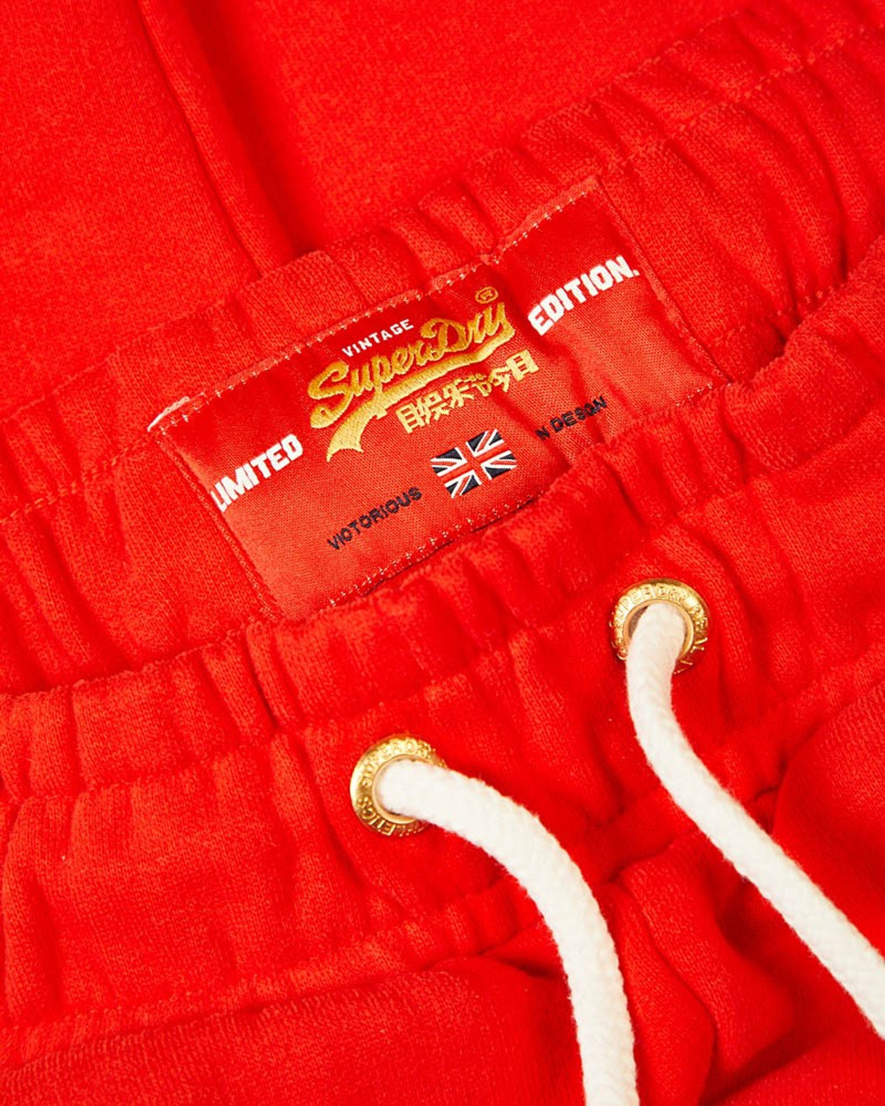 Superdry Womens CNY JOGGER Red Cuffed Joggers 5