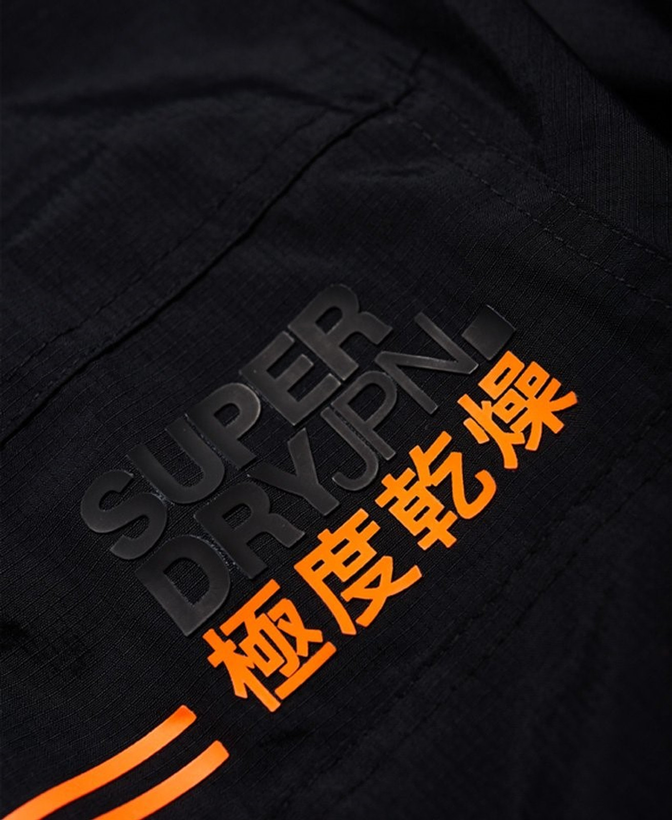 Superdry Mens Technical Hooded SD-Windattacker Jacket Black Windcheaters 7