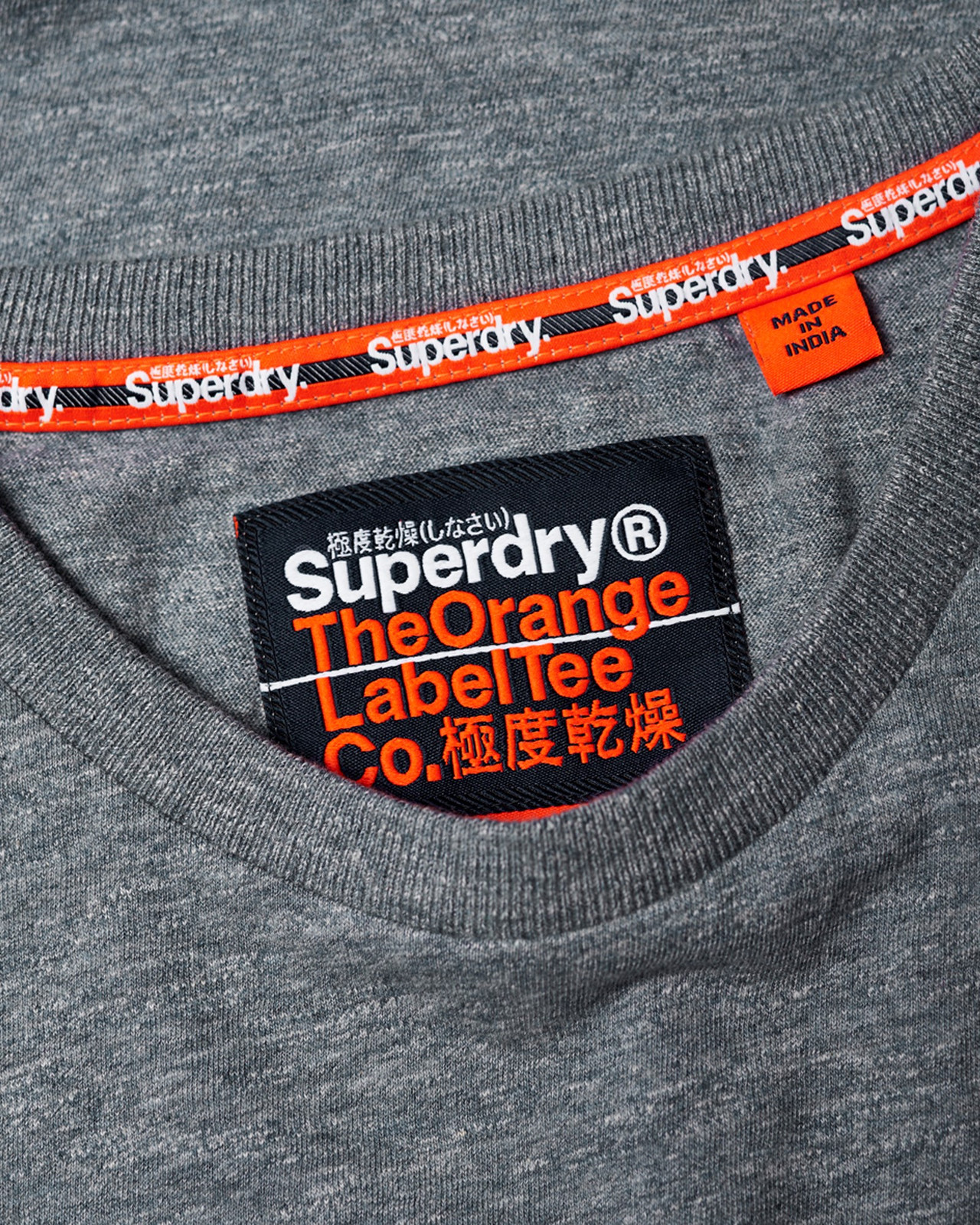 Superdry Mens Orange Label Vintage Embroidery Tee Blue Plain T Shirts 5