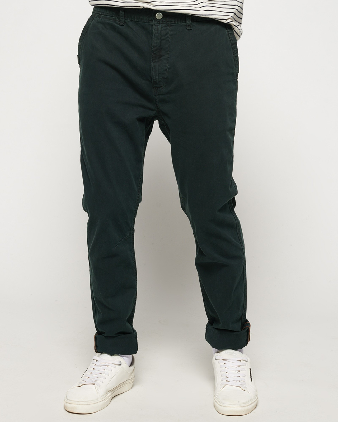 Superdry Mens Surplus Goods Chino Trousers Black Chino Pants 0