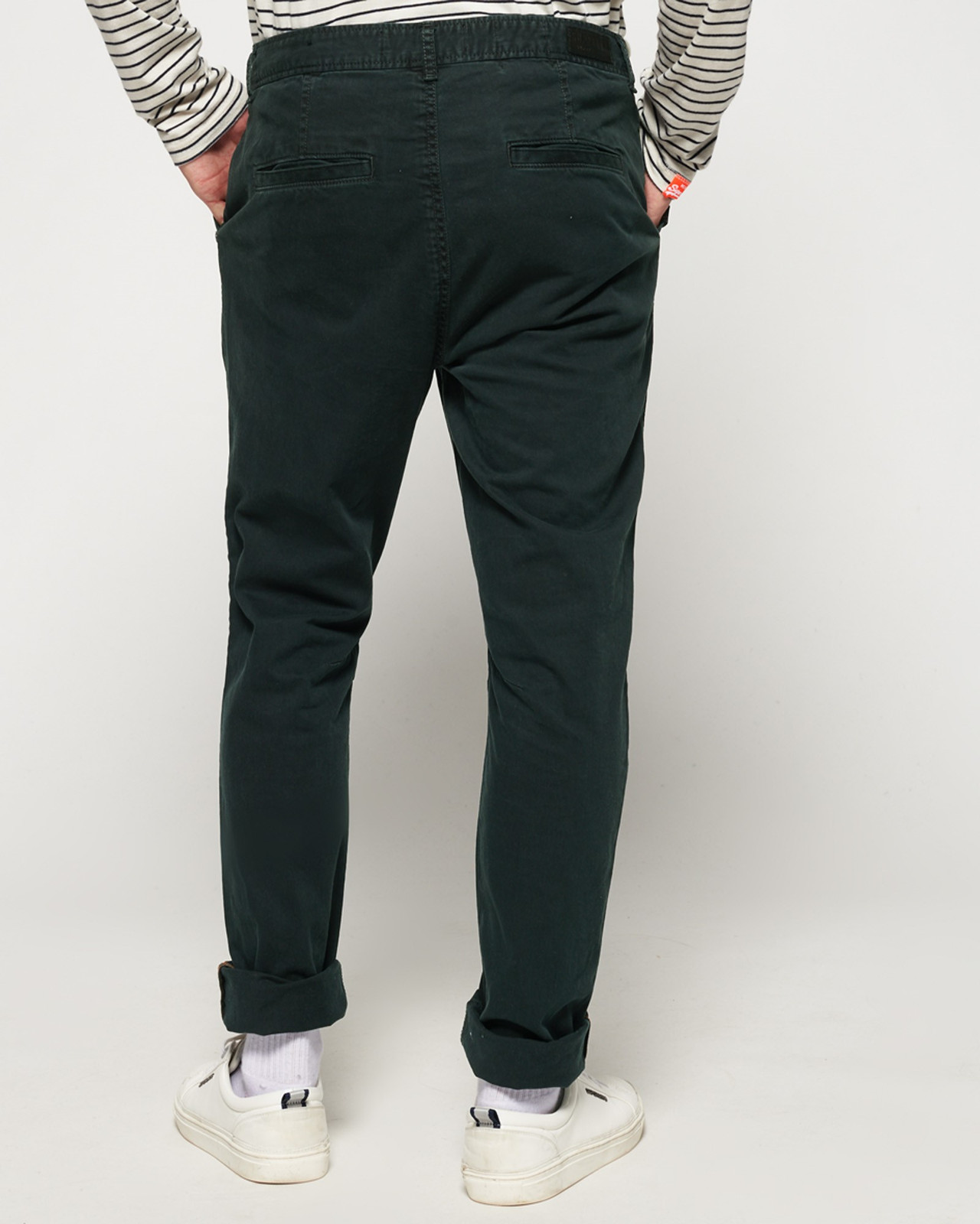 Superdry Mens Surplus Goods Chino Trousers Black Chino Pants 2