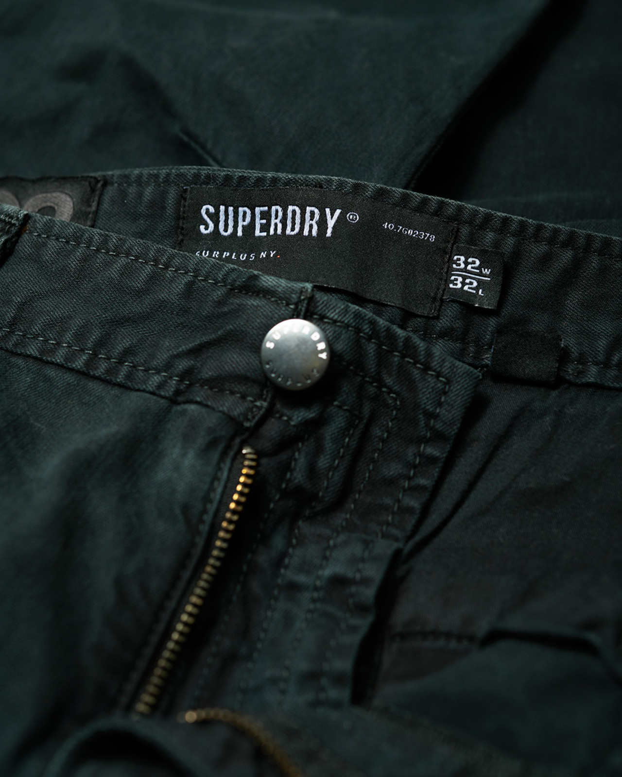 Superdry Mens Surplus Goods Chino Trousers Black Chino Pants 3