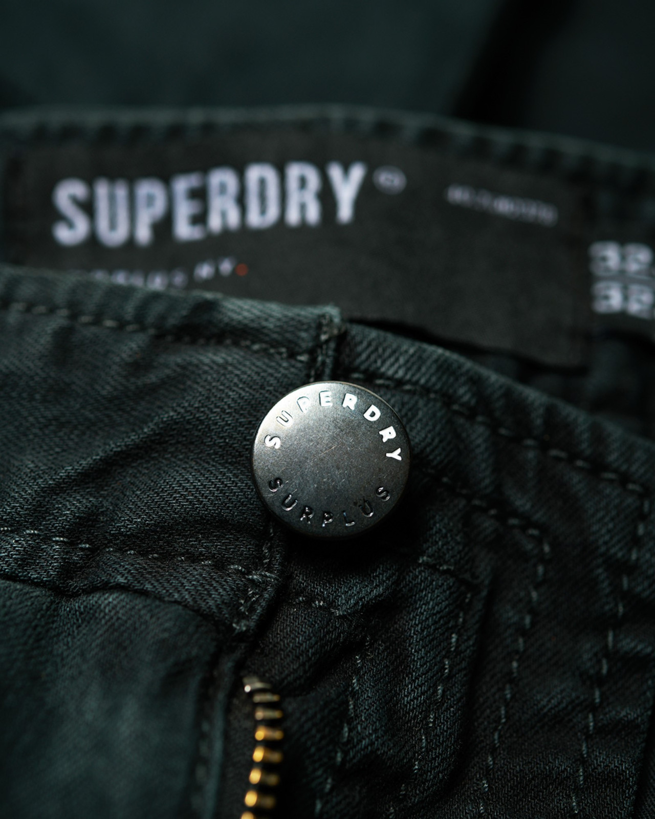 Superdry Mens Surplus Goods Chino Trousers Black Chino Pants 4
