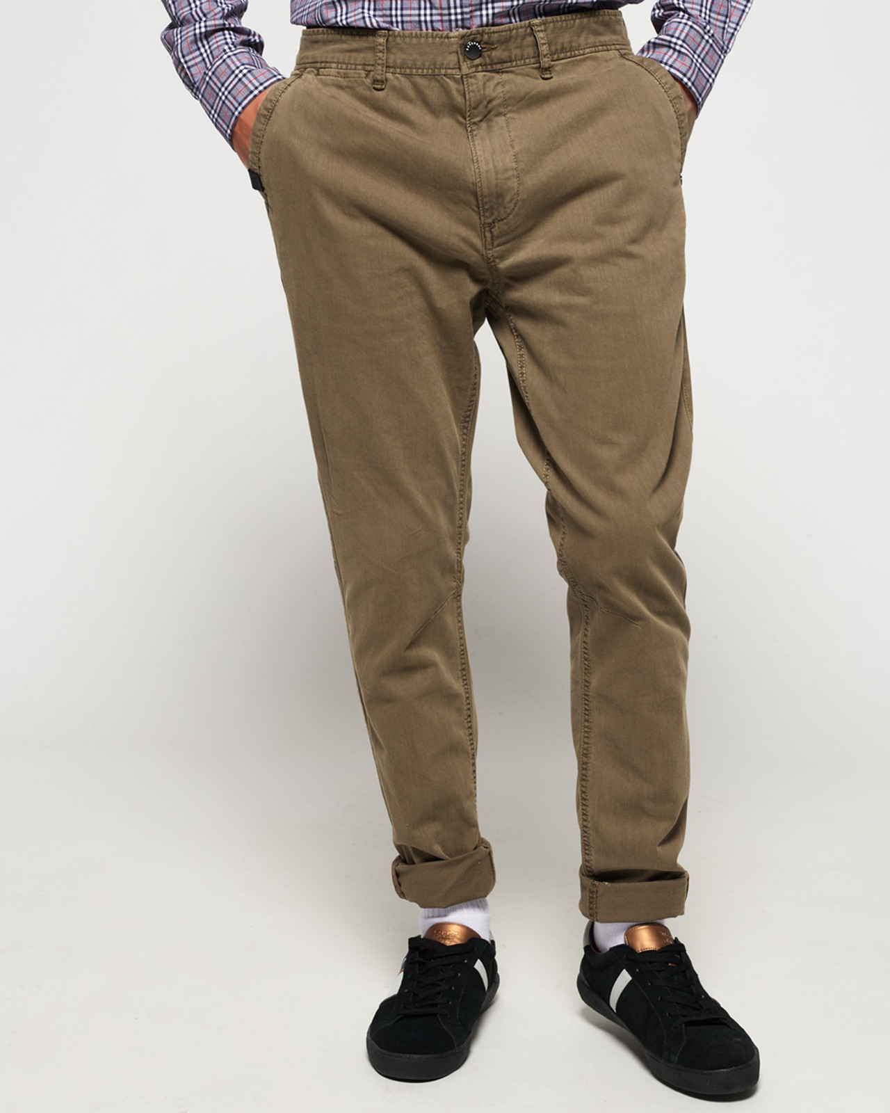 Superdry Mens Surplus Goods Chino Trousers Brown Chino Pants 0