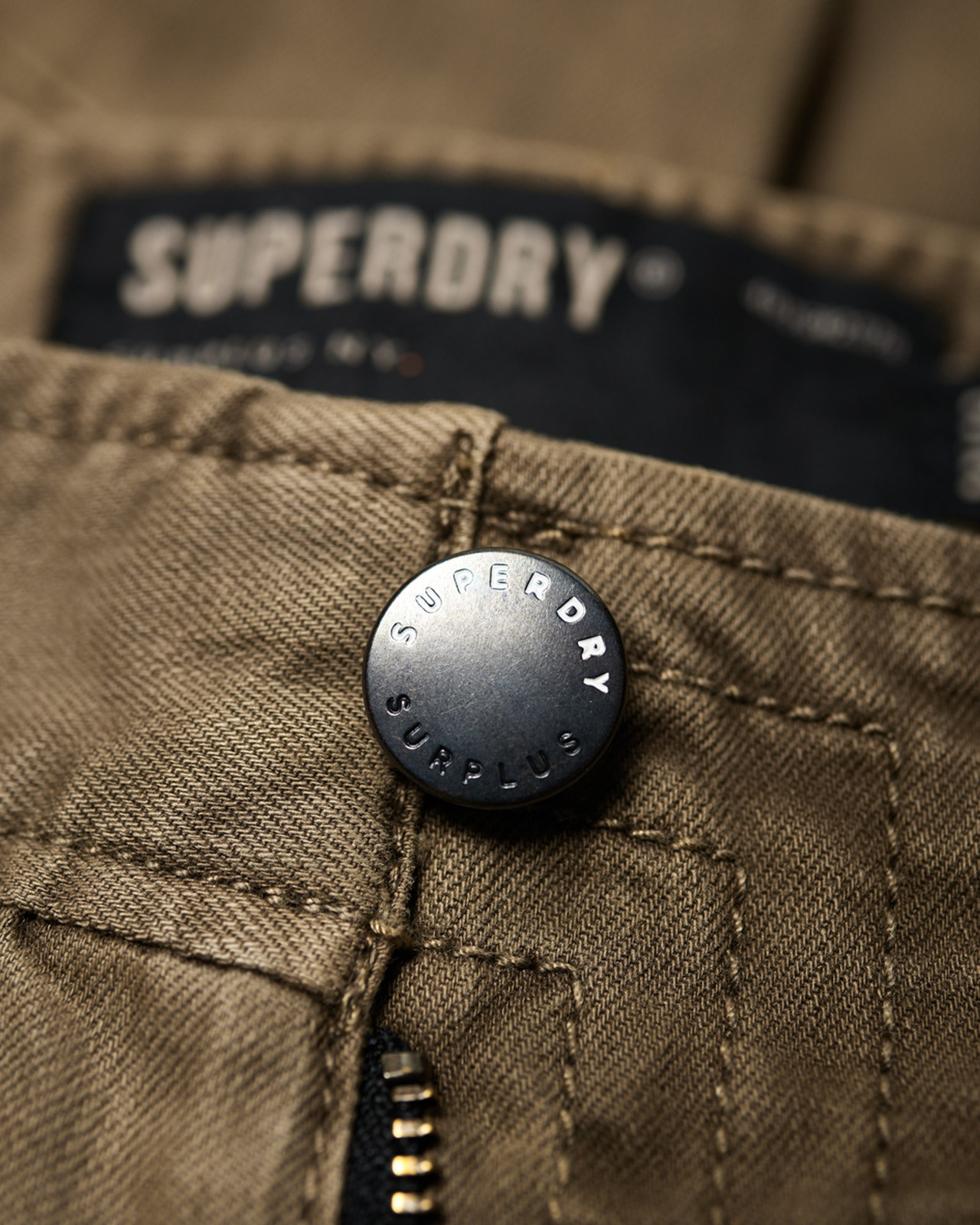 Superdry Mens Surplus Goods Chino Trousers Brown Chino Pants 4
