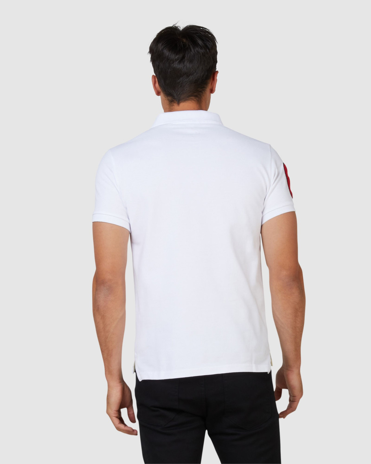 Superdry Mens CNY Superstate Short Sleeve Polo White Printed Polos 3