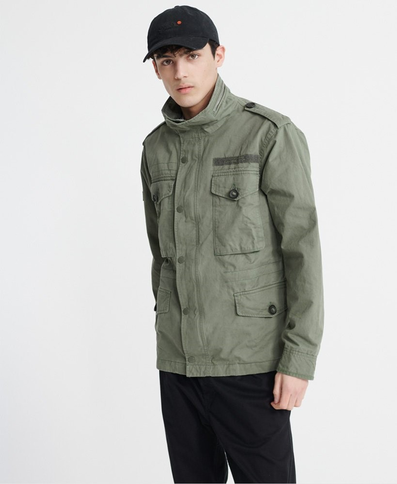Superdry Mens FIELD JACKET Green Military Jackets 0