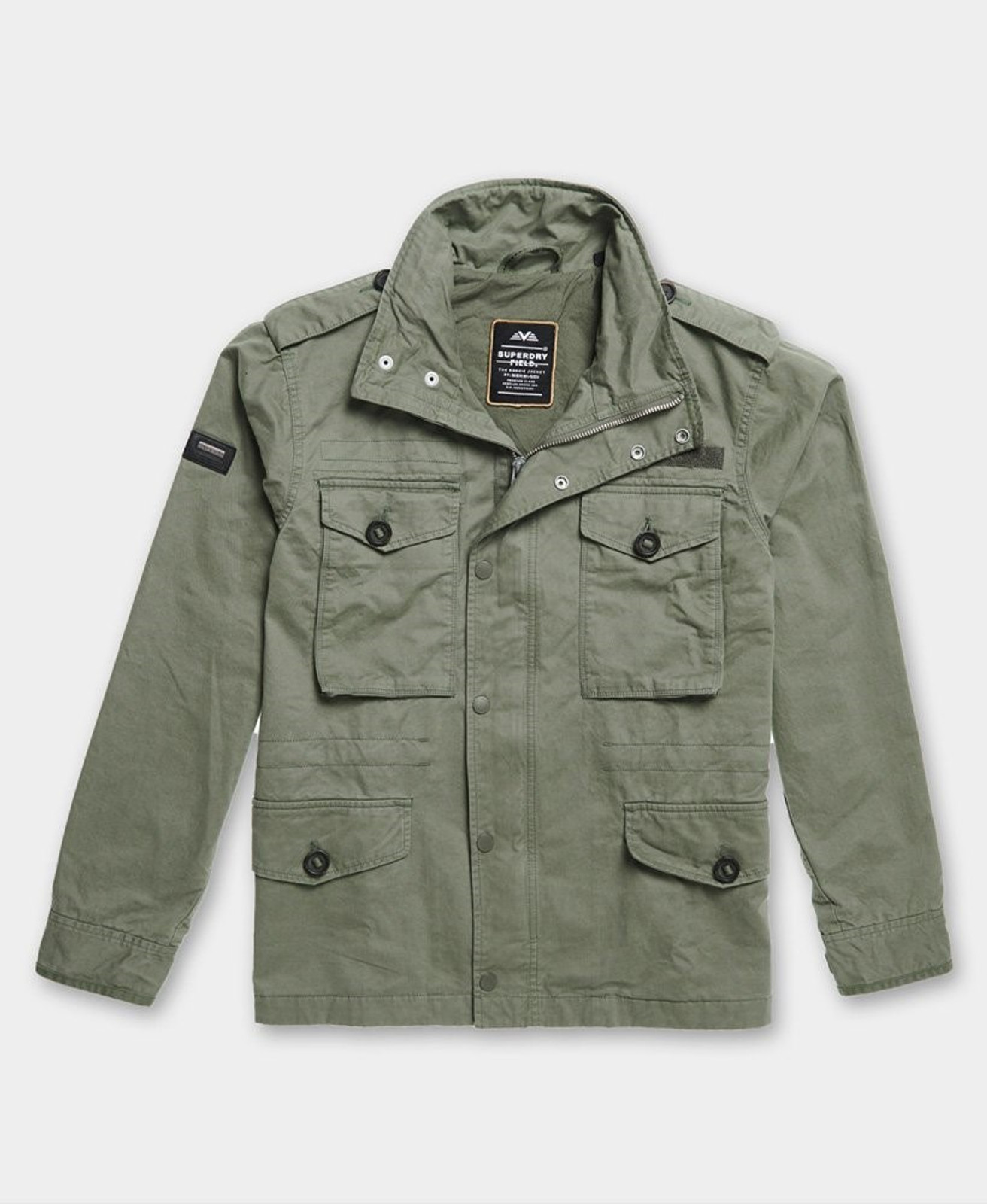 Superdry Mens FIELD JACKET Green Military Jackets 1