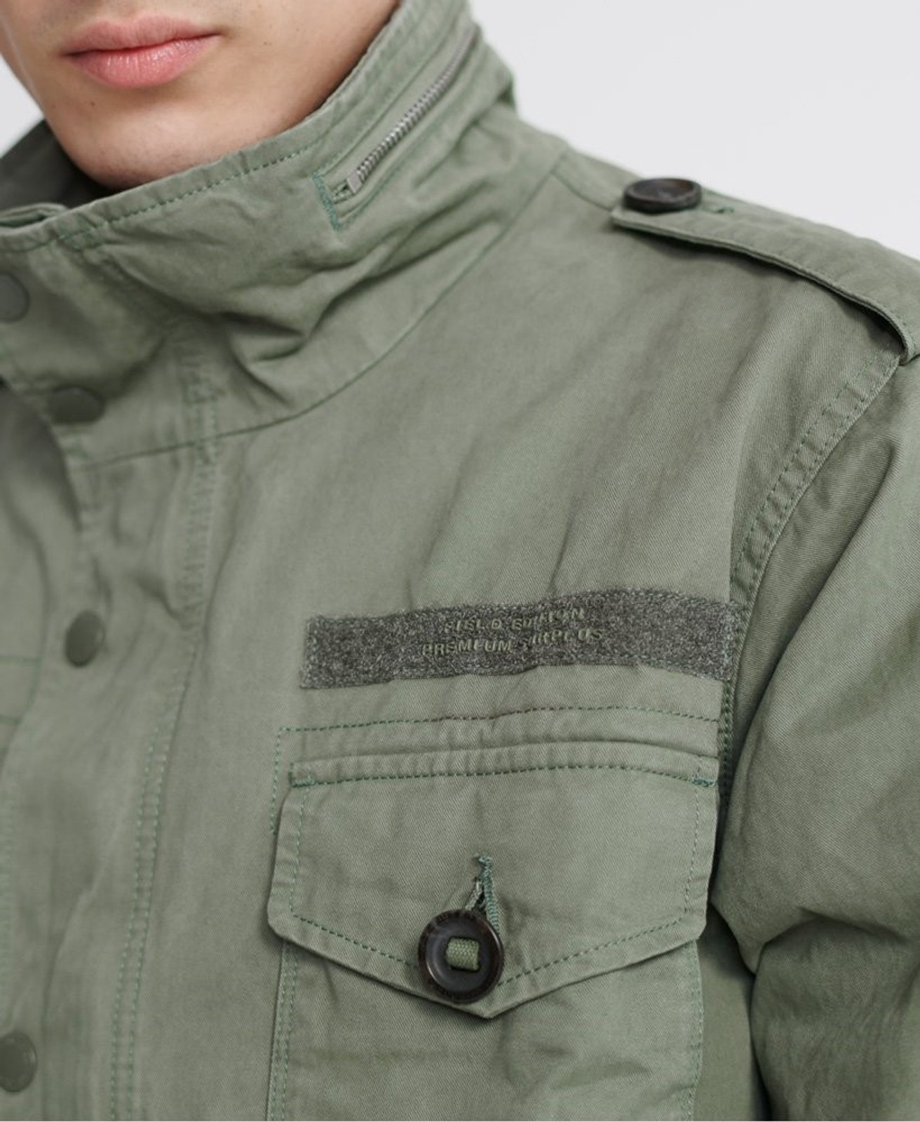 Superdry Mens FIELD JACKET Green Military Jackets 5
