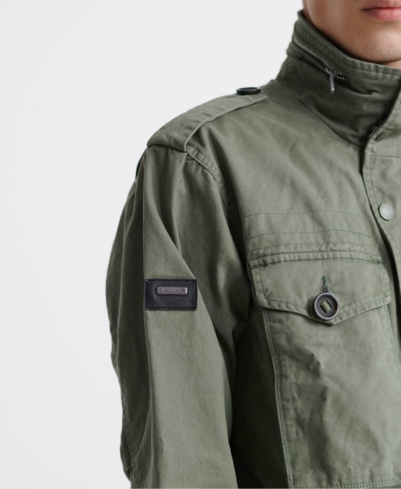 Superdry Mens FIELD JACKET Green Military Jackets 6