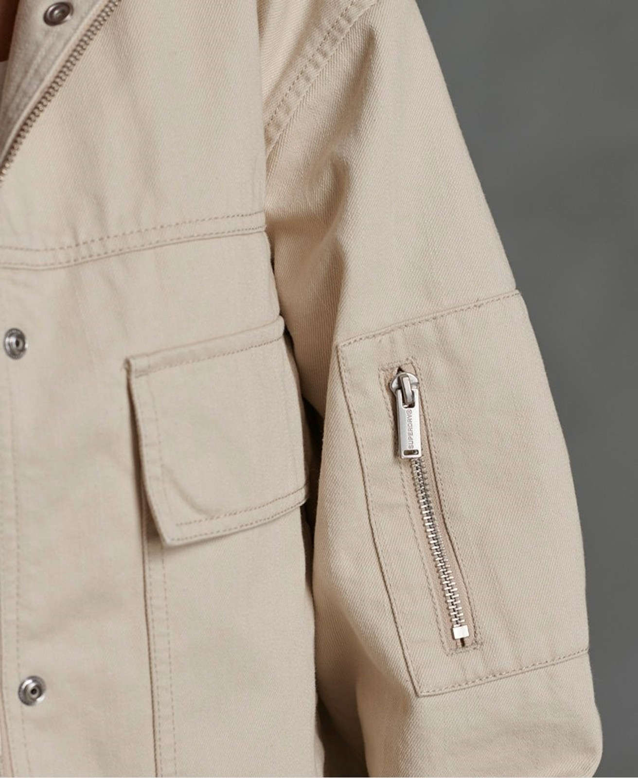 Superdry Womens BORA CROPPED JACKET Neutrals Casual Jackets 5