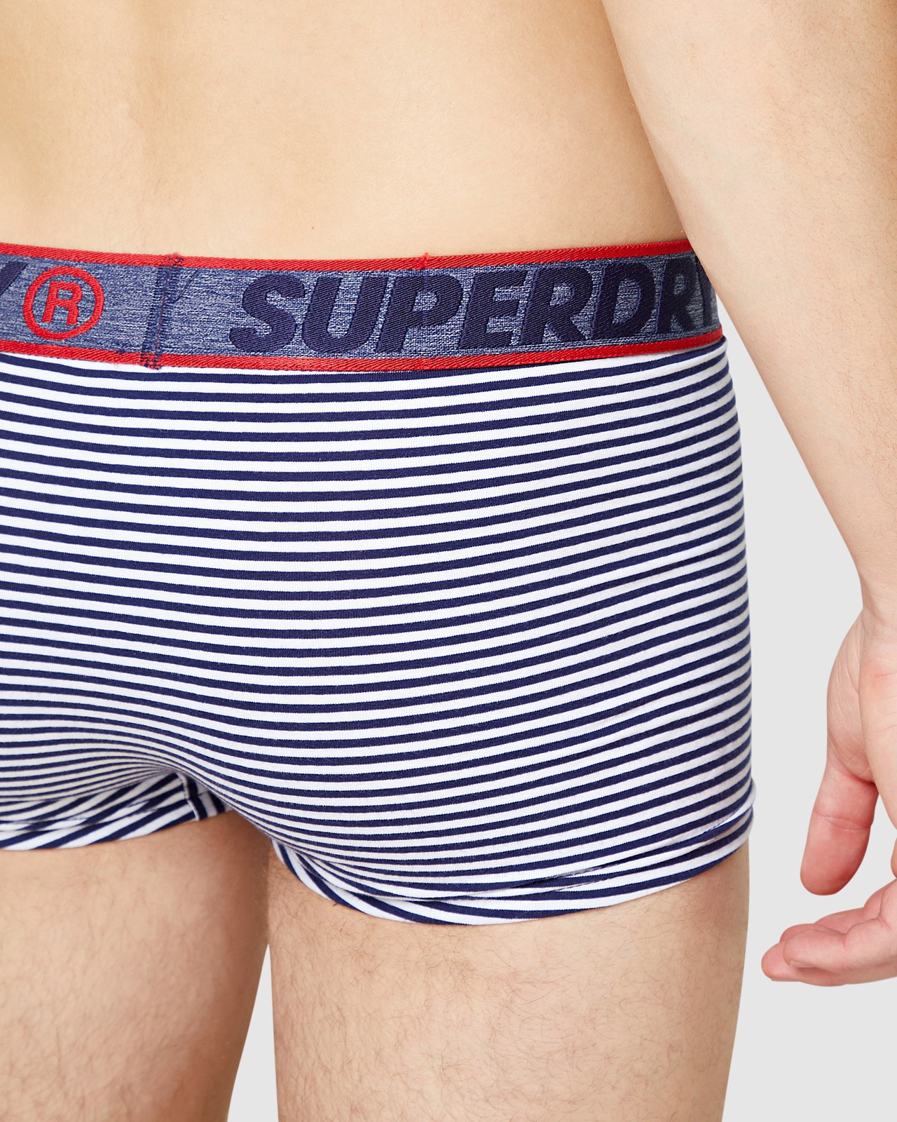Superdry Mens Trunk Double Pack Navy Trunks 7