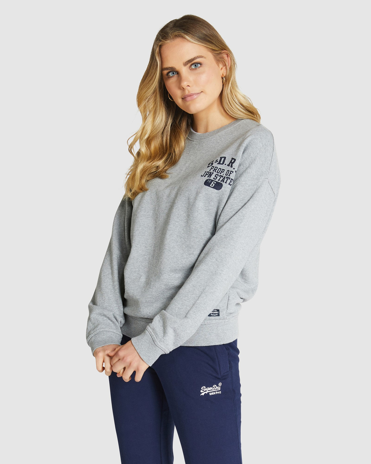 Superdry Womens SUPERSTATE SWEAT Grey Sweat Tops 0