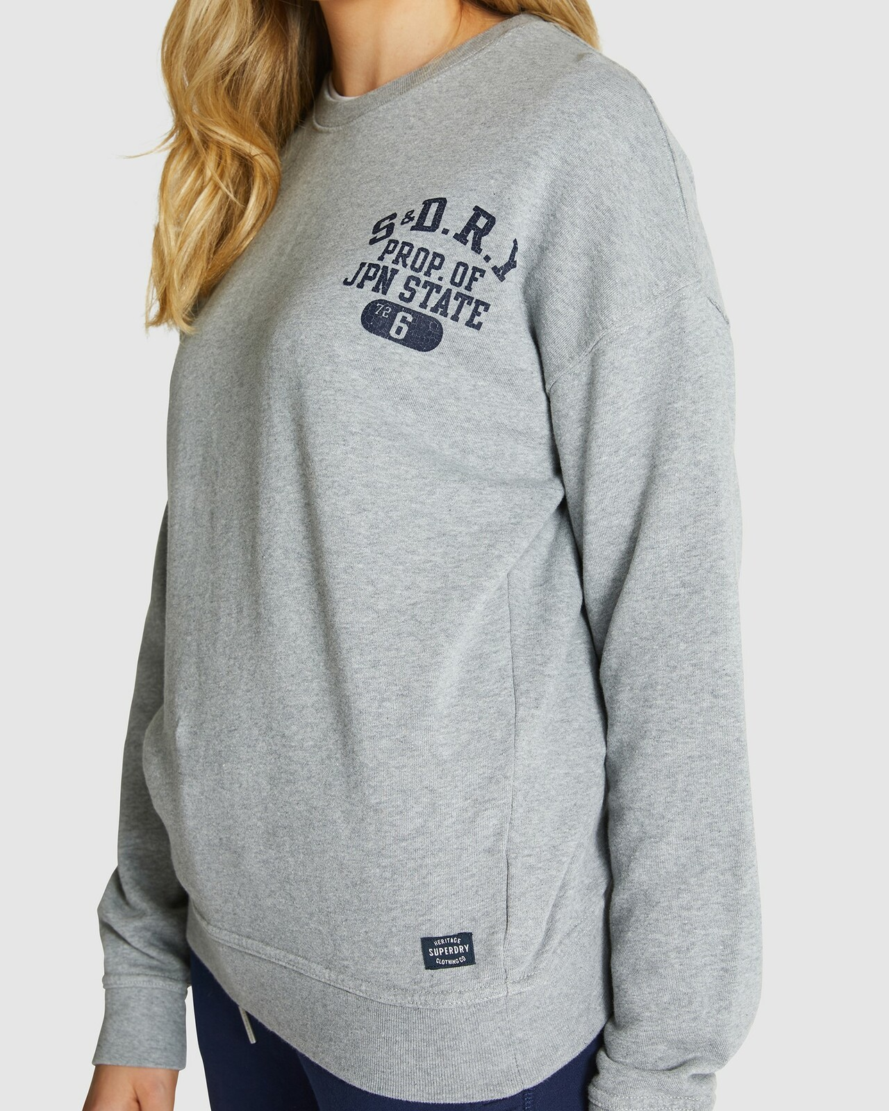 Superdry Womens SUPERSTATE SWEAT Grey Sweat Tops 3