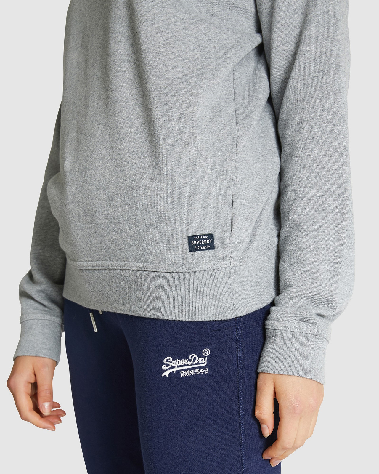 Superdry Womens SUPERSTATE SWEAT Grey Sweat Tops 4