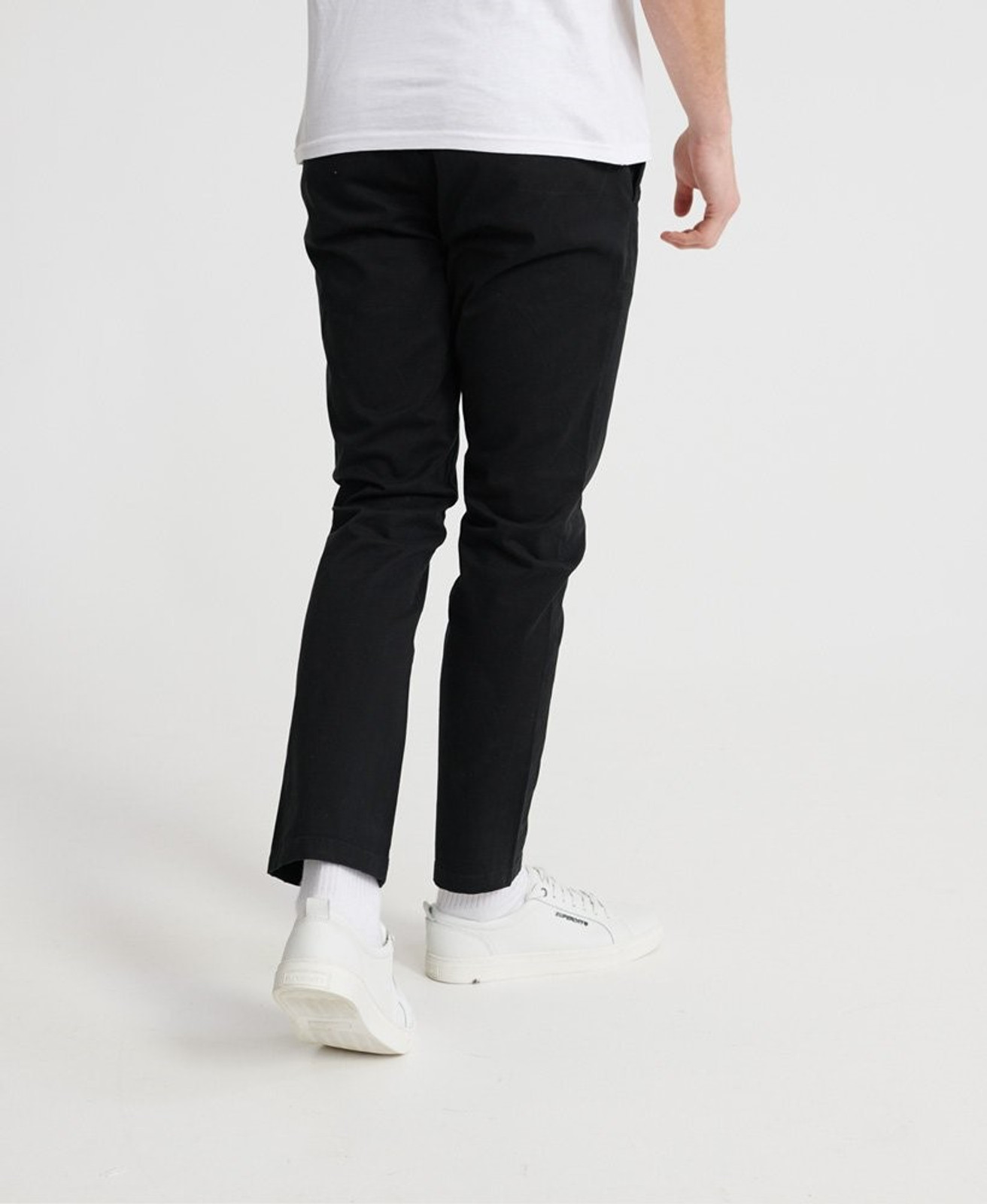 Superdry Mens EDIT CHINO Black Chino Pants 2