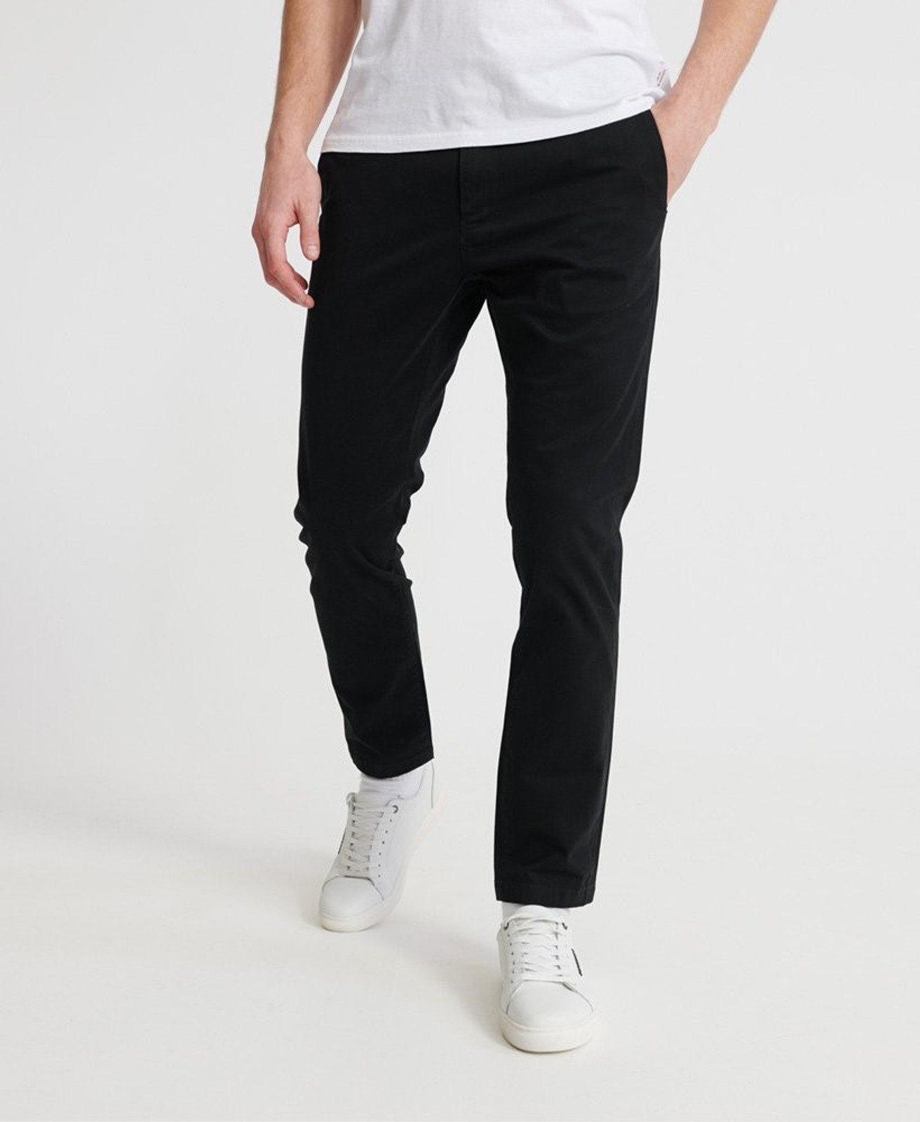 Superdry Mens EDIT CHINO Black Chino Pants 0