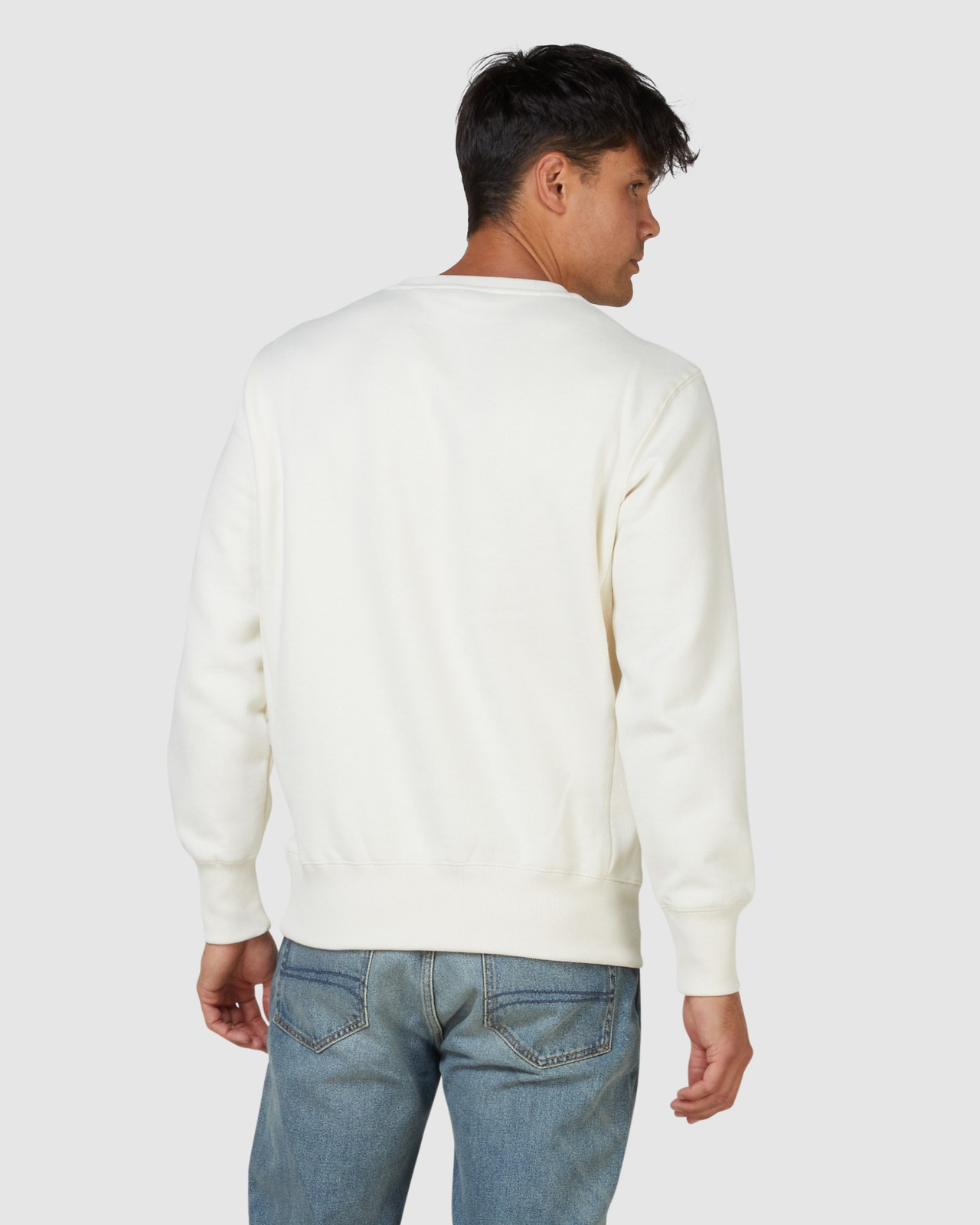 Superdry Mens SPORTSTYLE NRG EMBOSS CREW Neutrals Sweat Tops 3