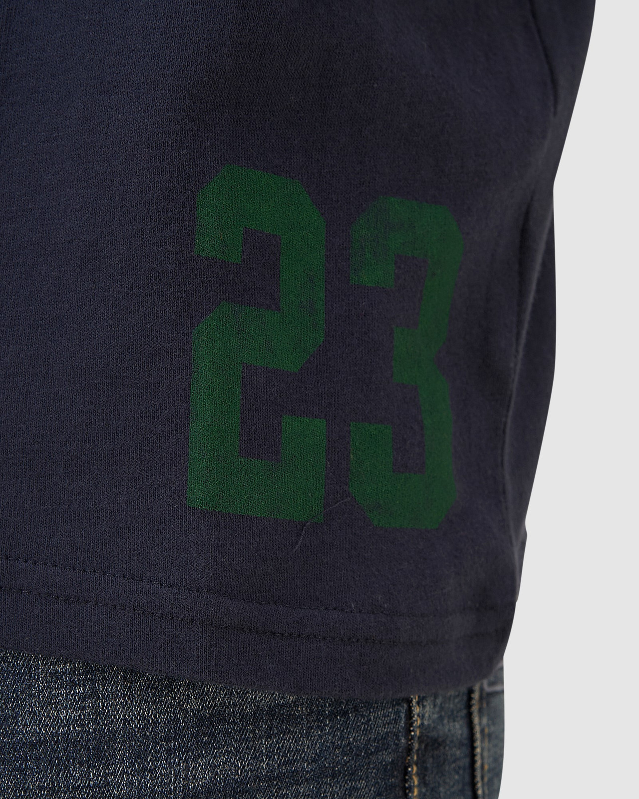 Superdry Mens T&F CLASSIC TEE Navy Printed T Shirts 6