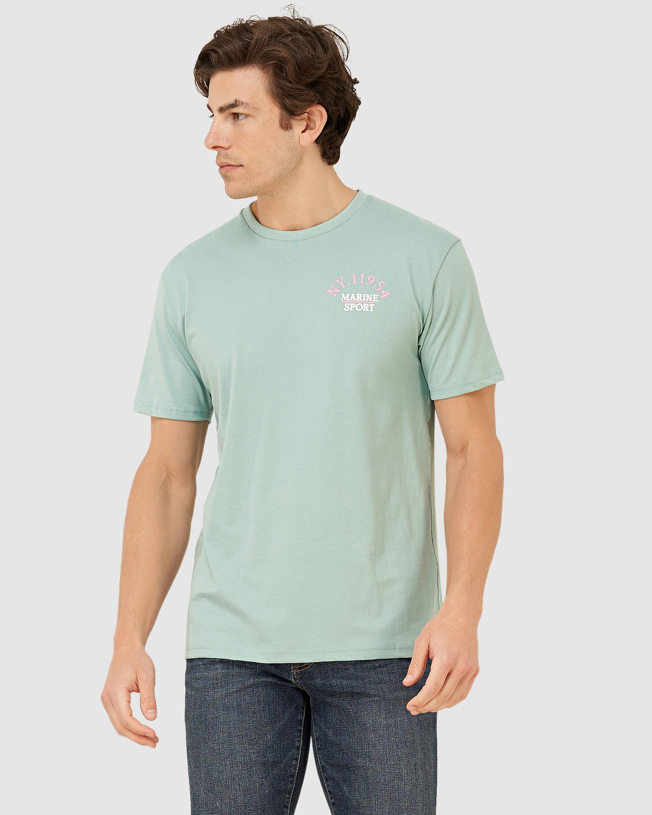 Superdry Mens YACHT PREP TEE Green Printed T Shirts 0