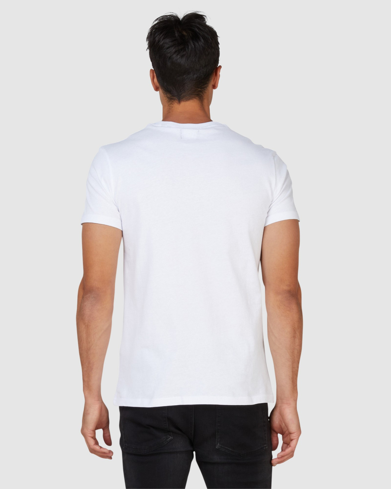 Superdry Mens SDRY PANEL TEE White Printed T Shirts 3
