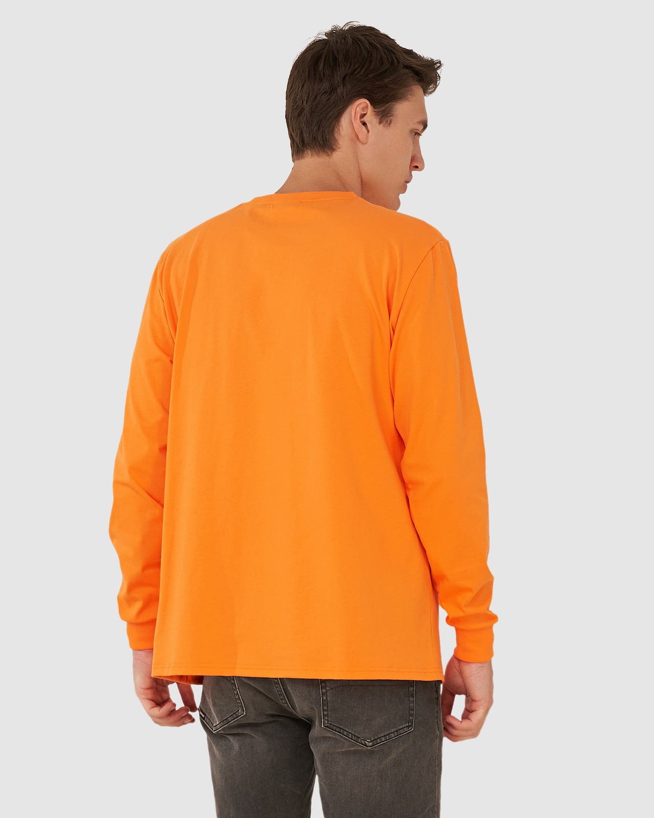 Superdry Mens YACHT PREP LS TOP Orange Long Sleeve T Shirts 3